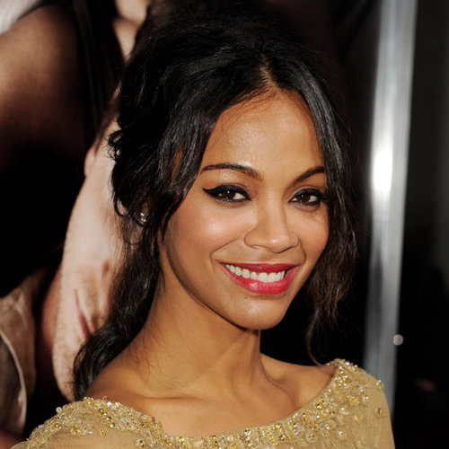Zoe Saldana's Hairstyle at The Words Premiere