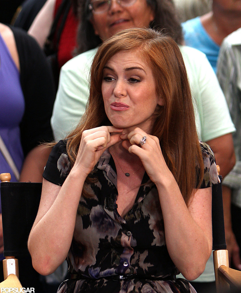 Isla Fisher stopped by Good Morning America.