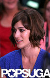 Lizzy Caplan appeared on Good Morning America in NYC.
