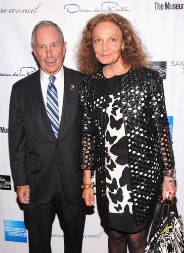 Diane von Furstenberg and Mayor Michael Bloomberg were among the famous faces on hand.