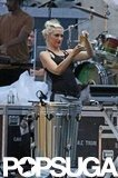 Gwen Stefani prepared for her concert in NYC.