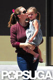 Jennifer Garner shared an affectionate moment with Seraphina Affleck.