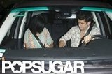 John Mayer and Katy Perry climbed into his car together as they left an LA restaurant.