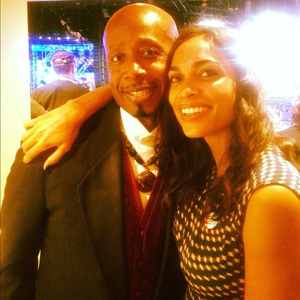 MC Hammer and Rosario Dawson met up at the DNC. Source: Instagram user mchammer