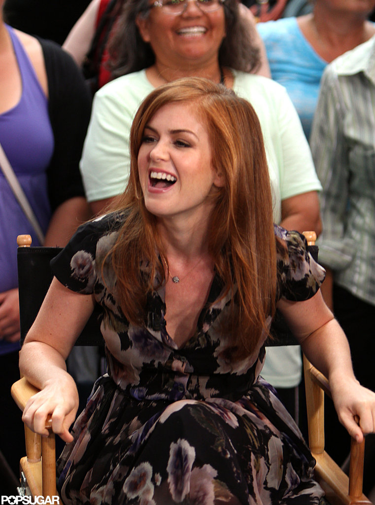Isla Fisher had a laugh on Good Morning America.