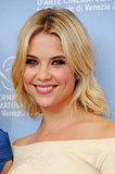 Ashley Benson gave a smile at the Spring Breakers photocall at the Venice Film Festival.