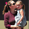 Jennifer Garner Kisses Seraphina Affleck | Pictures