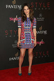 Katharine McPhee kicked off the night at the Style Awards in a digital-print mini.