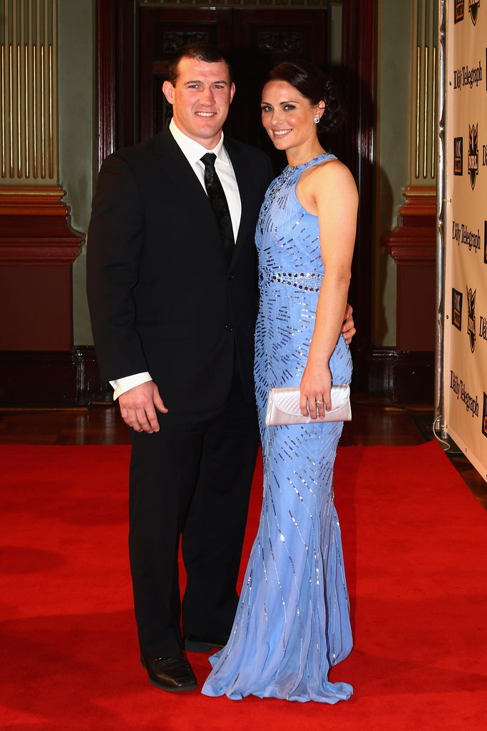 Paul Gallen and his fiancée Anne at the 2012 Dally M Awards.