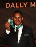 Ben Barba celebrates being named the 2012 Dally M Player of the Year.