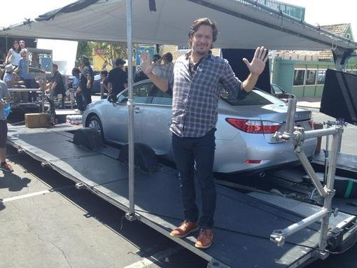 Nick Wechsler got silly on the set of Revenge. Source: Twitter user Gabriel_Mann