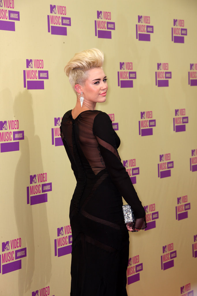 Miley Cyrus's new blonde hair was on display at the VMAs.