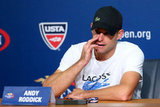 Brooklyn Decker Gets Emotional During Andy Roddick's Final Match