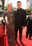 Pink and Carey Hart were all smiles as they arrived.