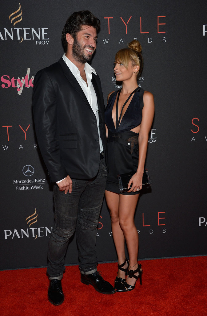 Nicole Richie posed with Andy Lecompte at the Style Awards.