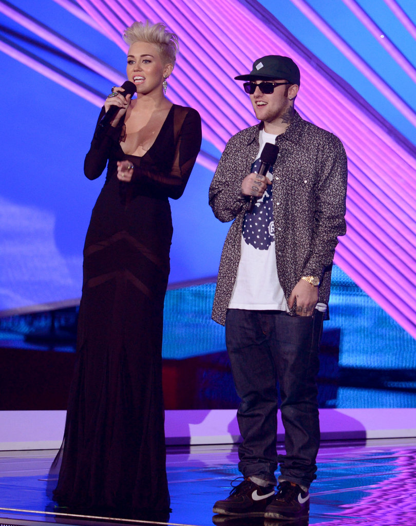 Miley Cyrus and Mac Miller were on stage together.