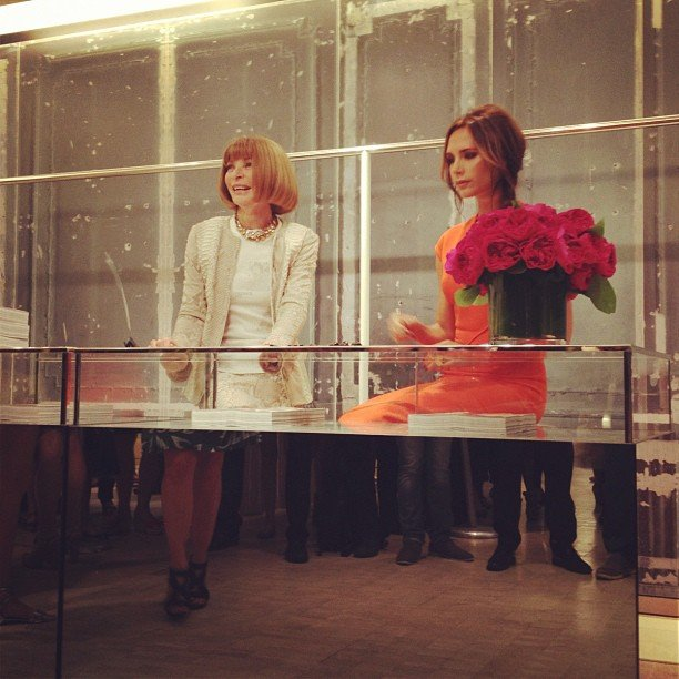 Victoria Beckham joined Vogue editor Anna Wintour for an appearance at Bergdorf Goodman for FNO.  Source: Instagram user bergdorfs