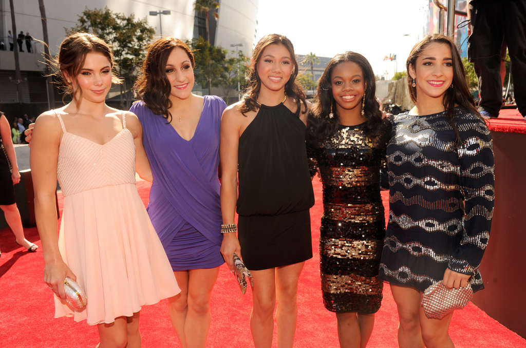 The Fab Five posed together on the red carpet.