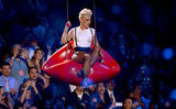 Pink performed in suspenders at the VMAs.