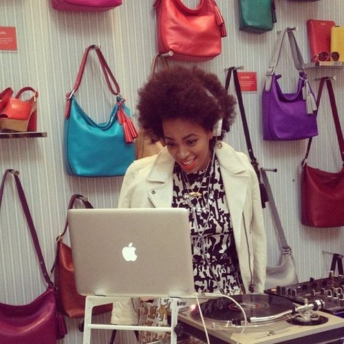 Solange Knowles was in charge of the music at Coach's FNO in NYC. Source: Instagram user kyleschaffler
