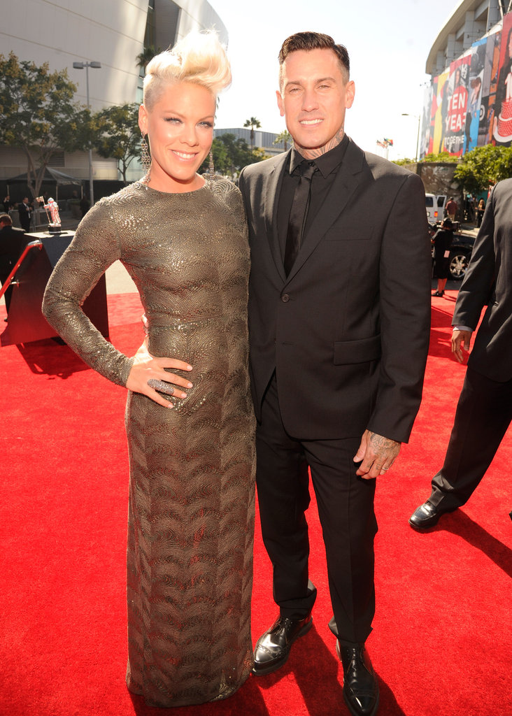 Pink and Carey Hart walked the red carpet together.
