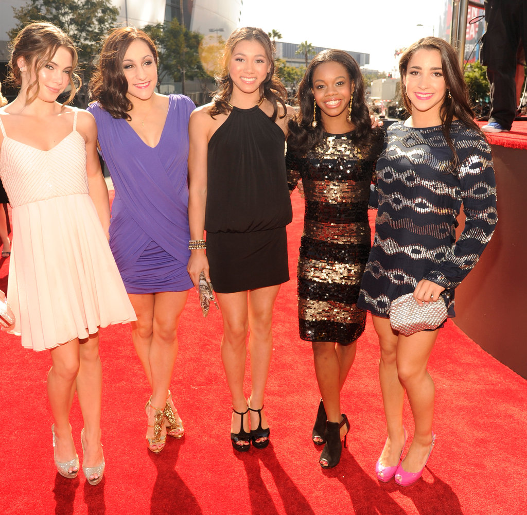 Gabby Douglas and the rest of the Fab Five walked the red carpet.