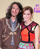 Emma Waston smiled with Ezra Miller at the VMAs.