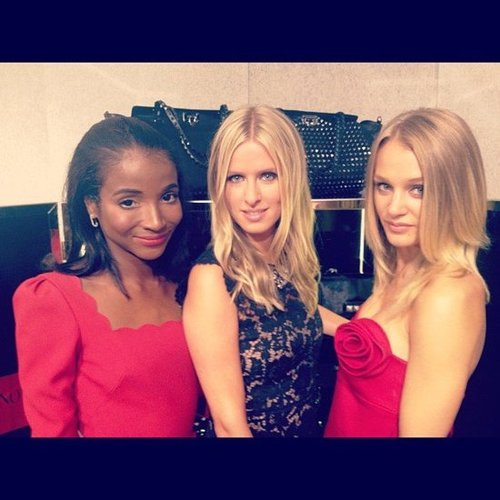 Nicky Hilton stopped by Valentino's FNO events in NYC. Source: Instagram user genevieve_jones