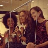 Solange, Diane von Furstenberg, and Girls' Allison Williams welcomed the crowd at Diane's Meatpacking store.