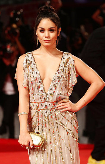 Gold sequins galore on Vanessa's Temperley London gown.