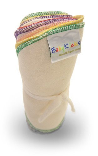 BabyKicks Natural & Organic 10 Pack Cloth Baby Wipes ($16)