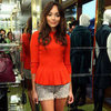 Ashley Madekwe Wearing Tweed Shorts