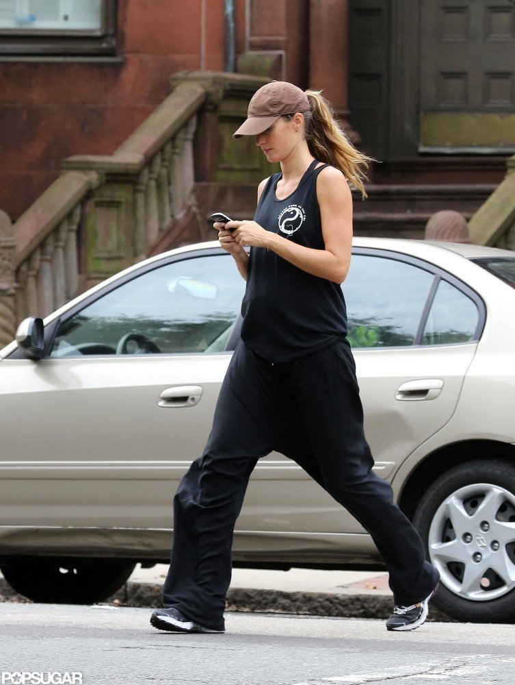 Gisele Bundchen sported a hat and ponytail in Boston.