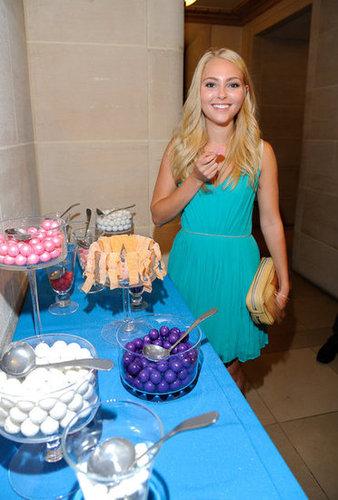 AnnaSophia Robb snacked on some sweets.