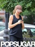 Gisele Bundchen walked home from the gym.