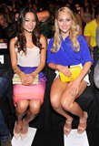 Jamie Chung and AnnaSophia Robb were colour-coordinated at Rebecca Minkoff in NYC.