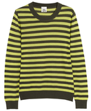 Iris & Ink Cashmere Striped Crewneck Sweater ($205)