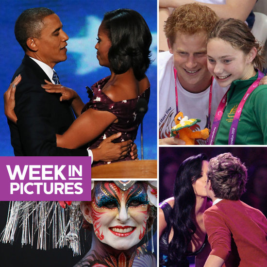 The Obamas Beam at DNC, Katy Perry Gets Kissy, and Prince Harry Is a Good Sport