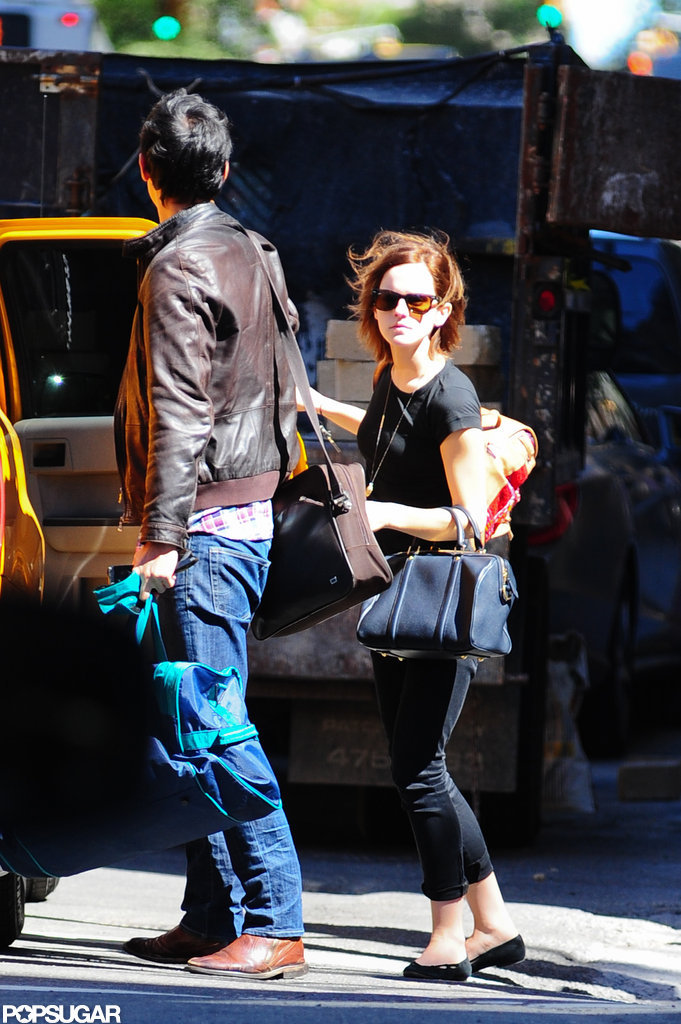 Emma Watson Welcomes Her Guy Will Adamowicz to the Big Apple