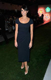 Christine Bleakley wore a navy midi for Jasper Conran.