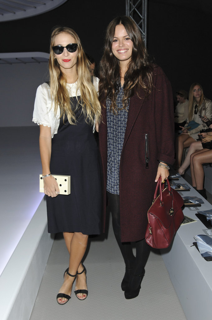 Harley Viera-Newton and Atlanta De Cadenet cosied up at Topshop Unique.