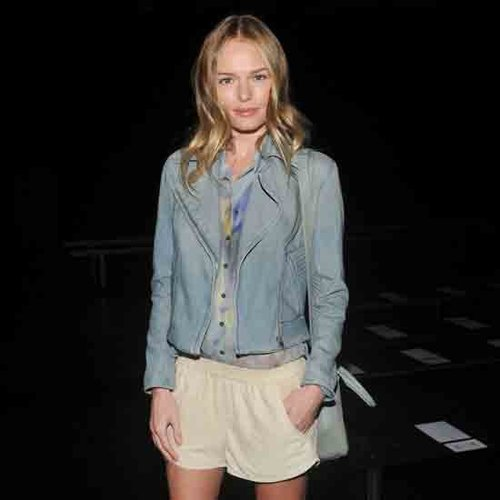Kate Bosworth Wearing Denim Biker Jacket