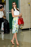 Miranda Kerr arrived in Seoul.