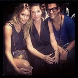 Doutzen Kroes was excited to sit front row at Theyskens Theory. Source: Instagram user doutzenkroes1