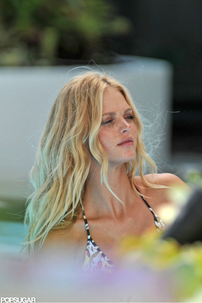 Erin Heatherton Slips Into a Bikini For a Victoria's Secret Shoot