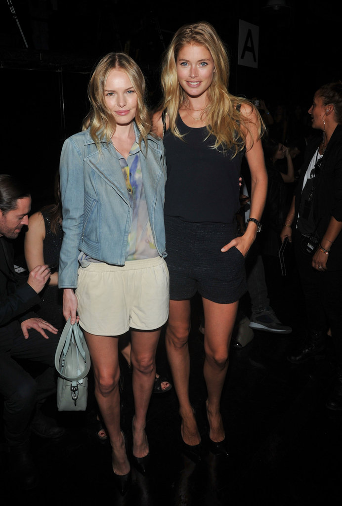 Kate Bosworth and Doutzen Kroes posed together at the show.