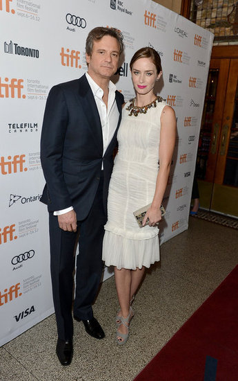 Emily Blunt Takes Style Cues From Colin Firth For a TIFF Premeire