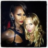 Rachel Zoe snapped a photo with Iman.  Source: Instagram user rachelzoe