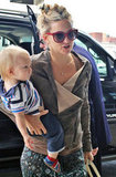 Kate Hudson Jets Out of Toronto With Bingham in Her Arms