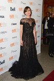 "Keira Knightley has been earning street cred as the ""girl who can do no wrong in sheer lace,"" and her latest Anna Karenina premiere look is no exception. She wore a romantic black lace Elie Saab Couture gown that leaves us stunned."